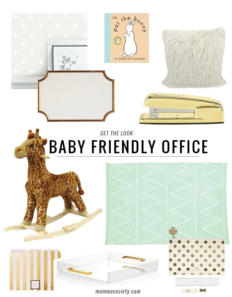 Baby Friendly Office Space Design | Momma Society-The Community of Modern Moms | www.MommaSociety.com