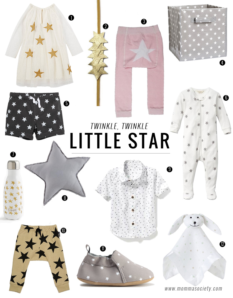 Stylish Star Print Baby Toddler Clothes and Accessories | www.mommasociety.com