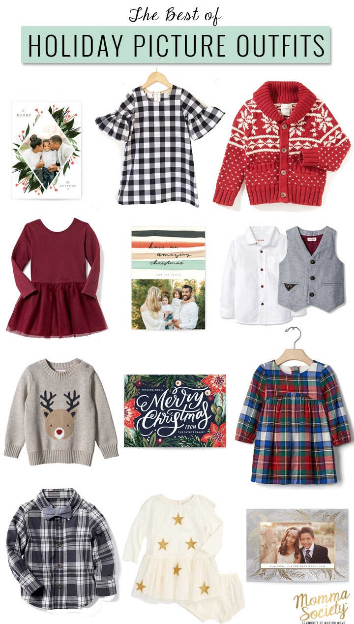 Holiday Picture Family Outfit Ideas | What to wear for Christmas pictures | Momma Society-The community of modern moms