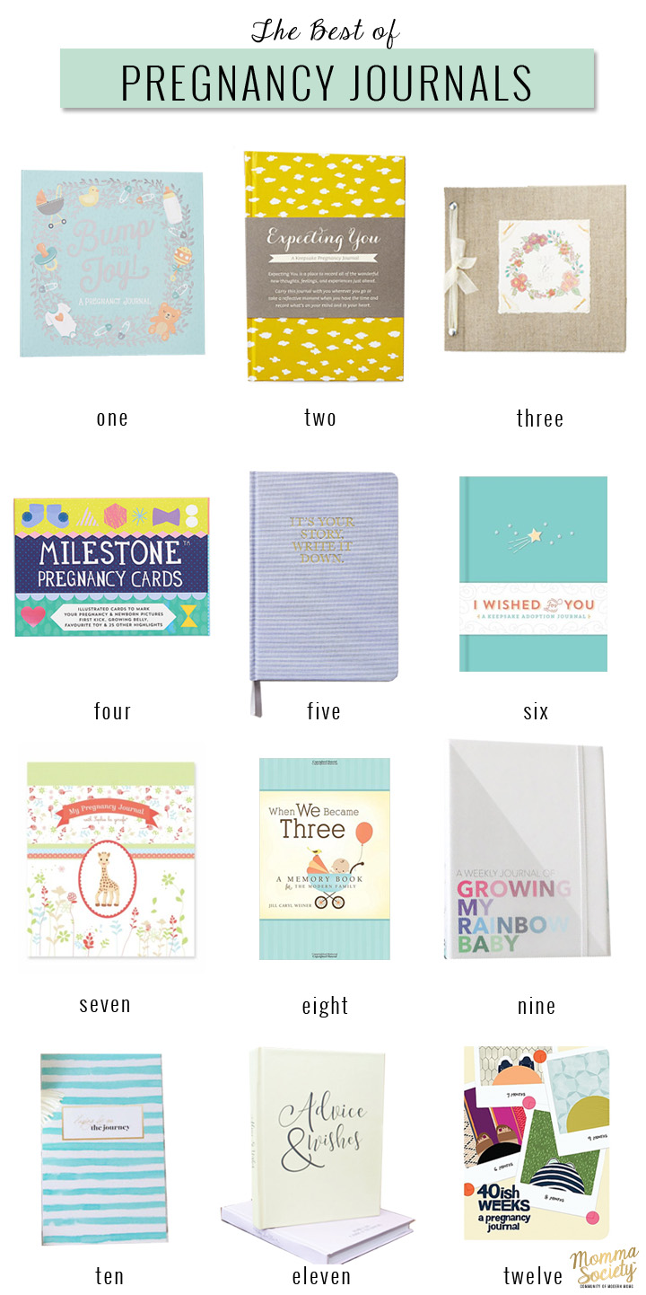 The Best Pregnancy Journals | Pregnancy Journal Ideas | Pregnancy Journal DIY | Momma Society-The Community of Modern Moms