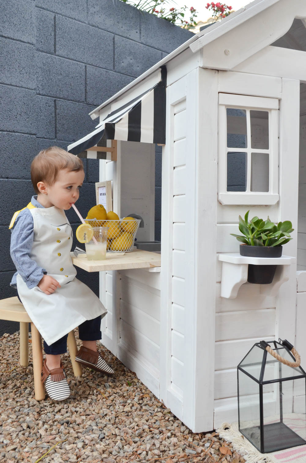 Outdoor Playhouse DIY Renovation | Painted Wooden Playhouse