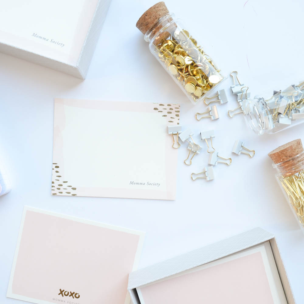 Minted Gold Foil Stationary | Community for Modern Moms