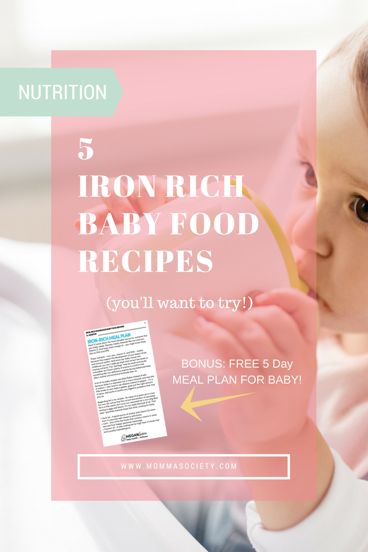 5 Iron-Rich Recipes for Homemade Baby Food | DIY Baby Food | What Baby Eats | Baby Food Ideas