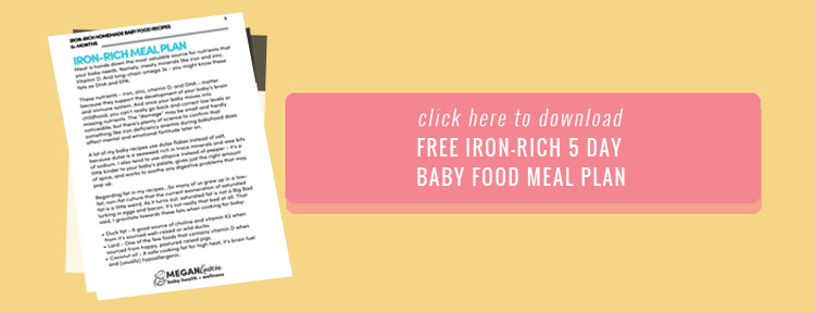 5 Day Iron-Rich Homemade Baby Food Meal Plan FREE