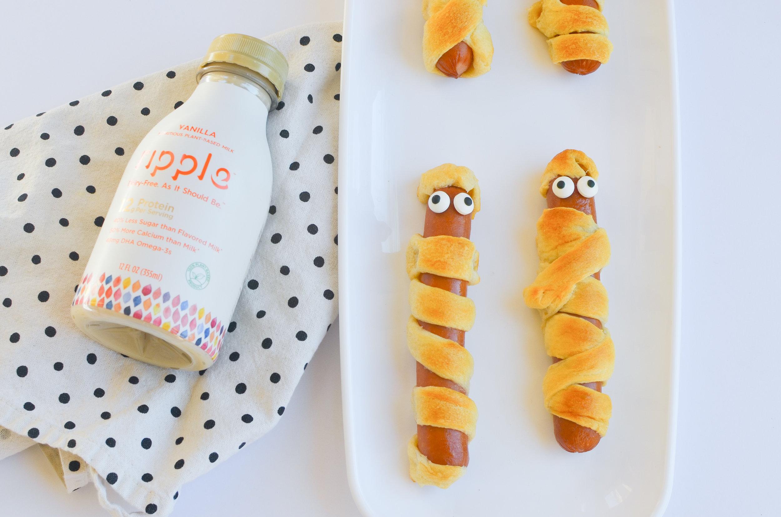 Easy Halloween Snacks | Toddler Snacks | Halloween Food | Halloween Ideas | Mummy Hotdog Rolls