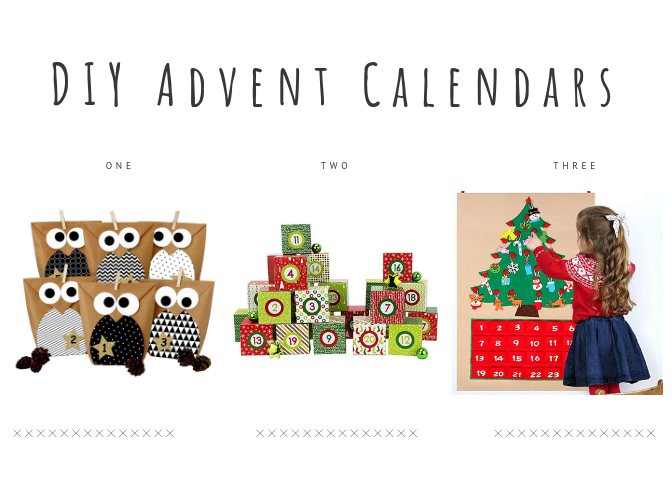 DIY Advent Calendars for toddlers and kids