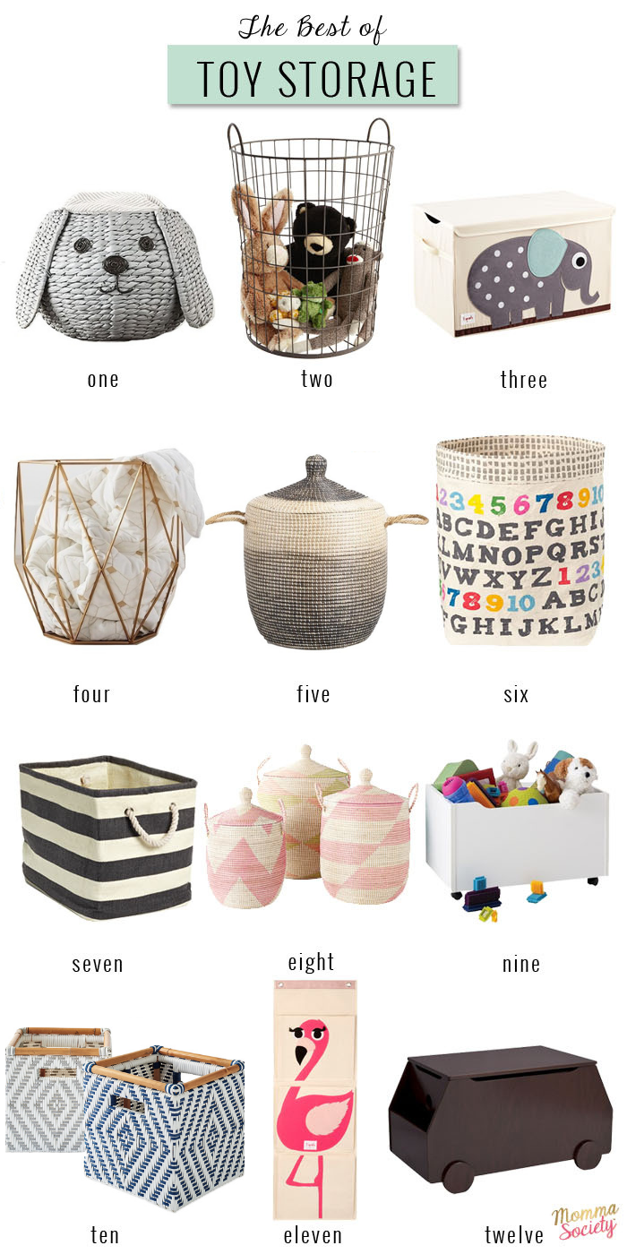 Best of toy storage   Baskets and Buckets to organize the playroom