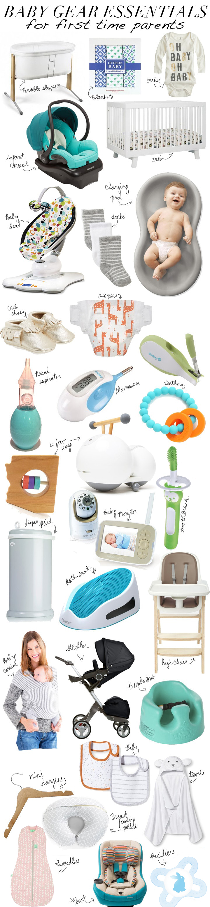 Baby gear checklist first time parents | Baby Registry Must Haves