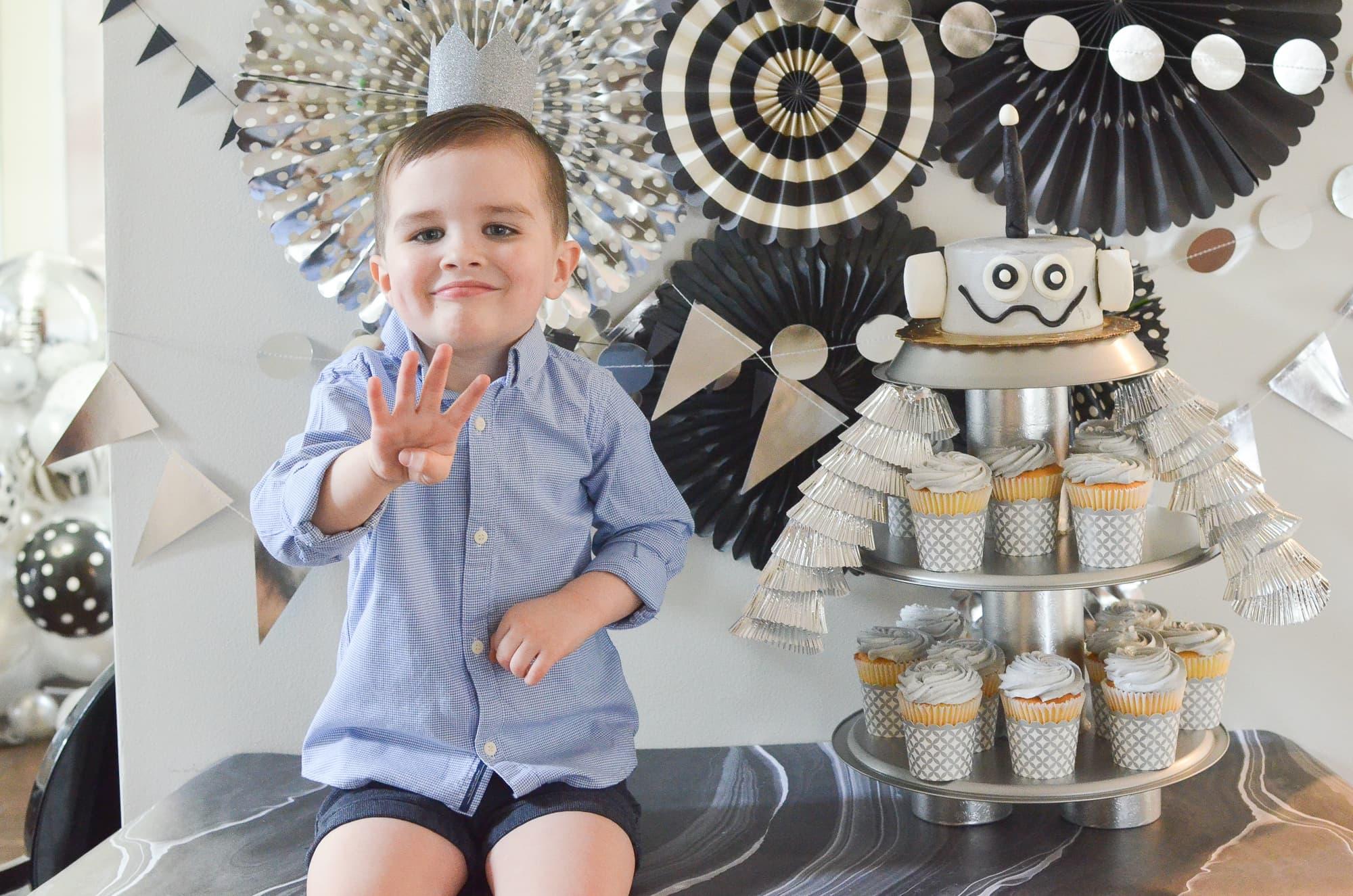 Brody's Robot Birthday Party | Momma Society