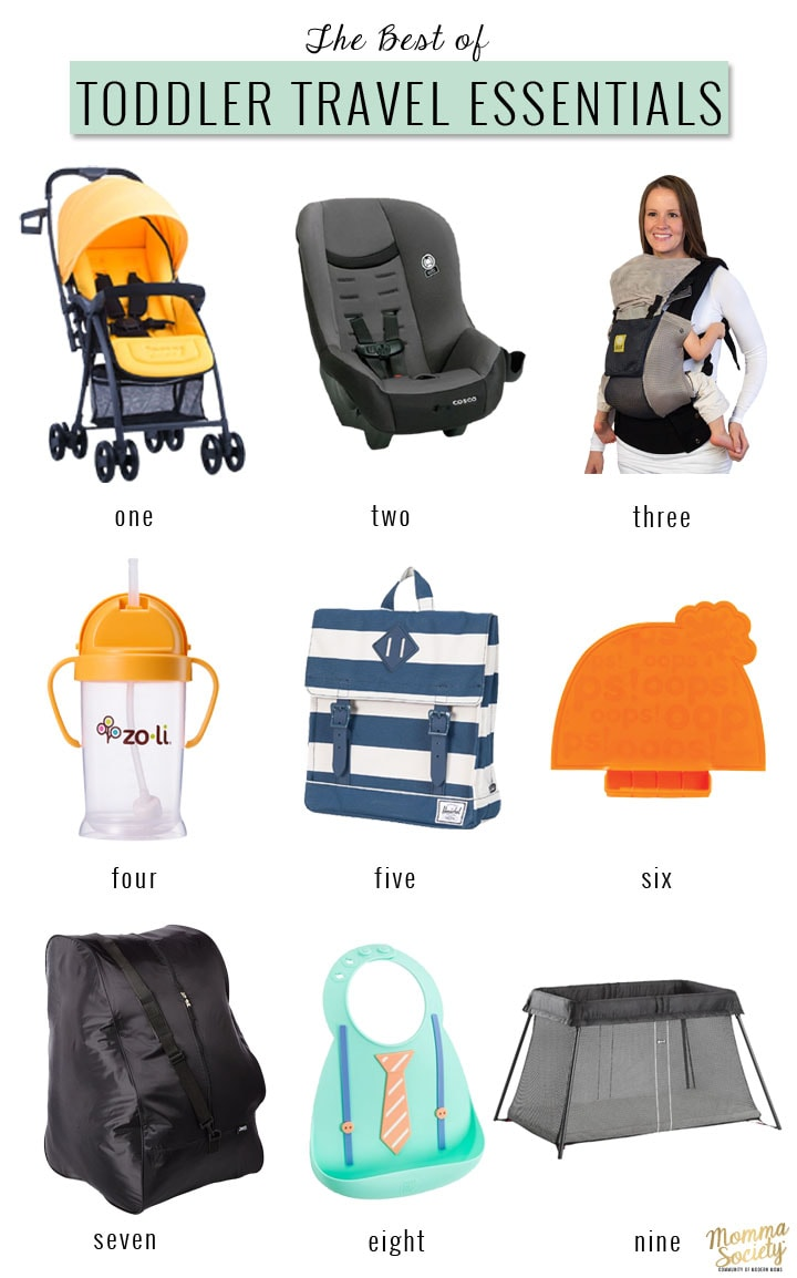Baby and toddler travel essentials packing list