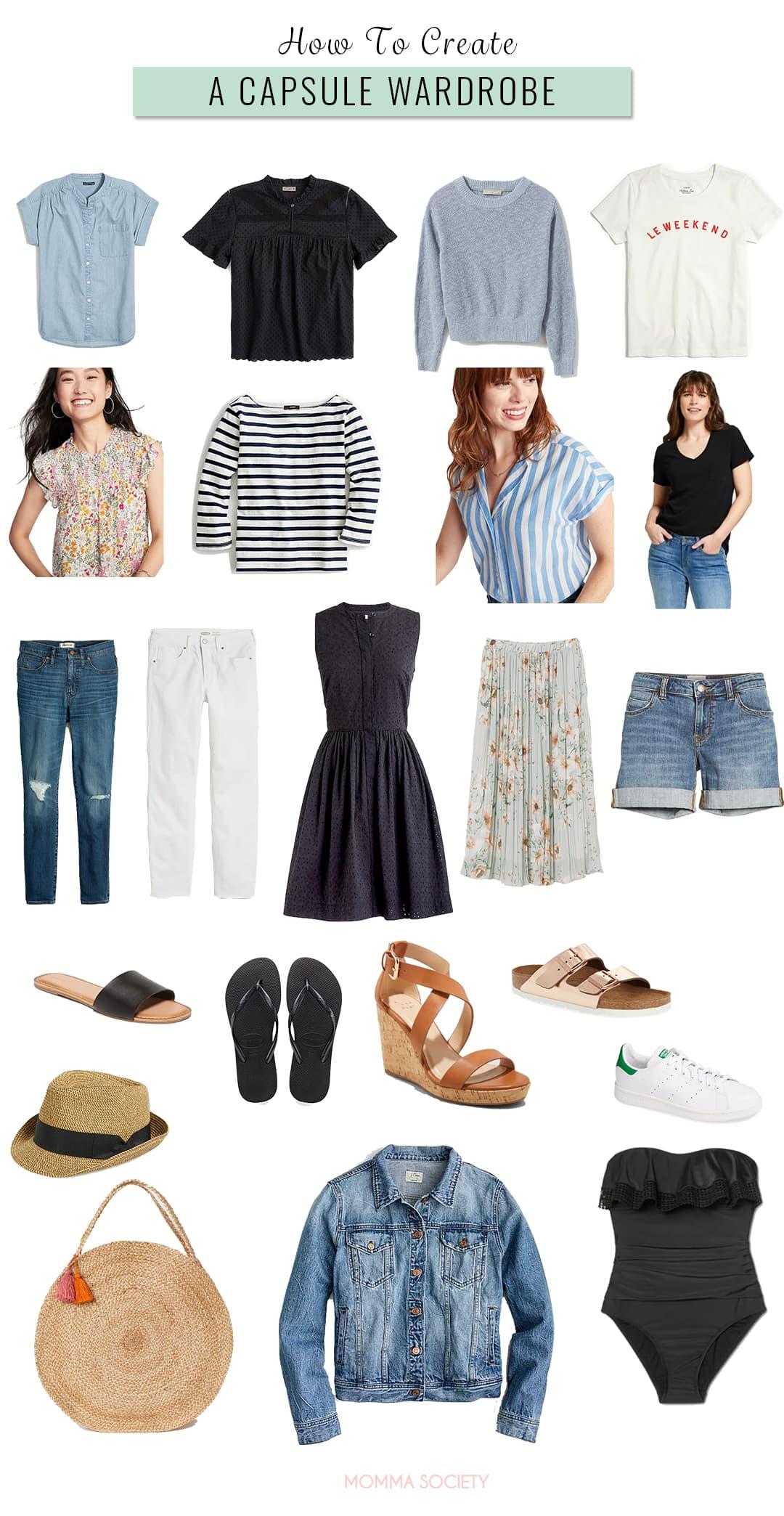 How to Build a Capsule Wardrobe | Momma Society