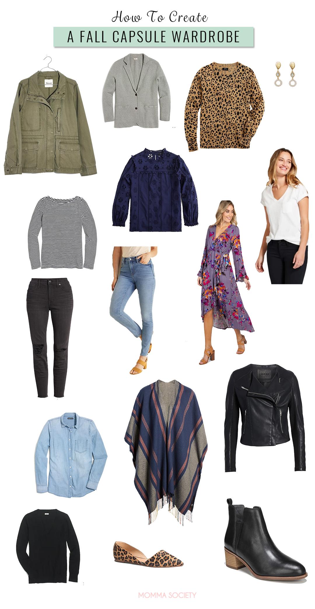 Fall Capsule Wardrobe for Mom | Momma Society