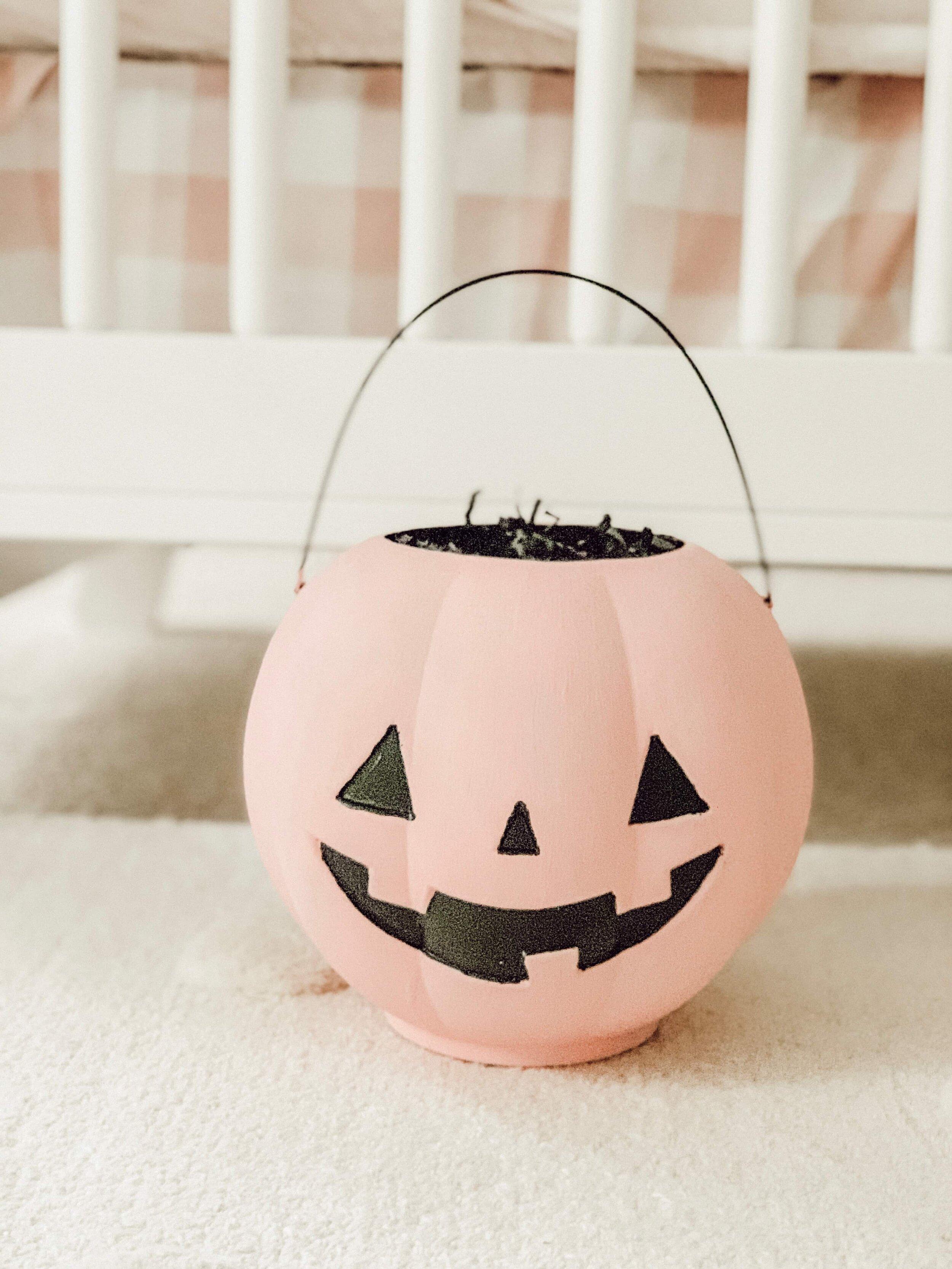 Jack-O-Lantern Pink Boo Bucket | Momma Society