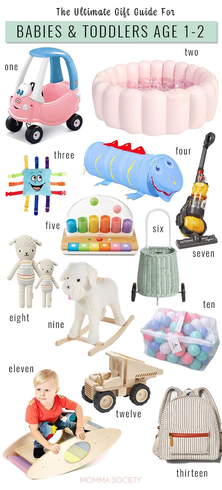 Best Holiday Gift Ideas For Babies Toddlers Age 1 2 Momma Society
