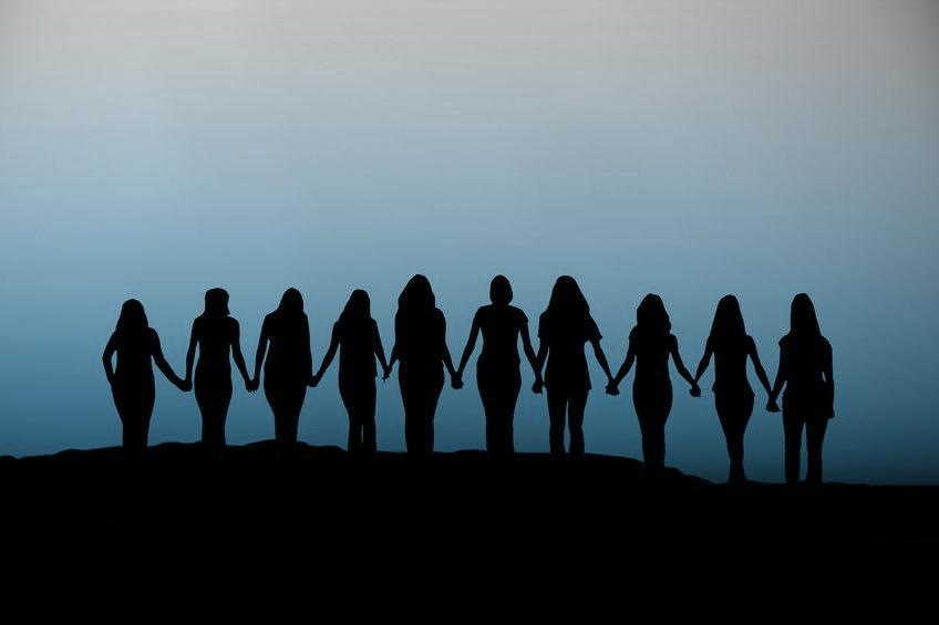 women gathering in glastonbury