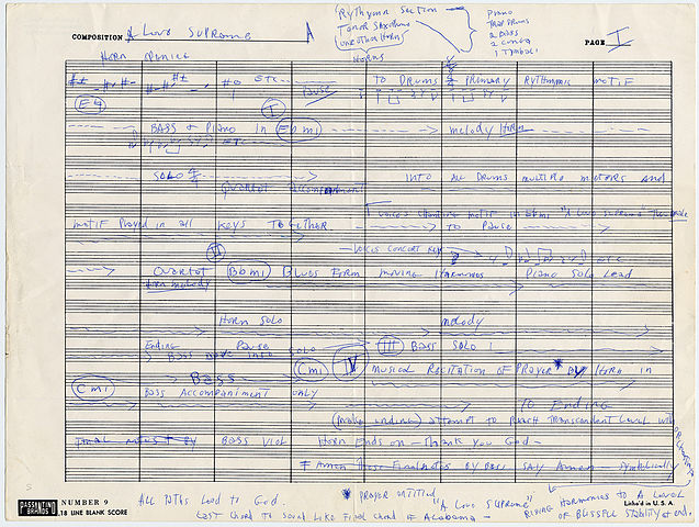 By Original author, John Coltrane. Reproduced from the archives of the Smithsonian -  http://americanhistory.si.edu/treasures/creative-masterpieces-page-2, Public Domain, https://commons.wikimedia.org/w/index.php?curid=28596623