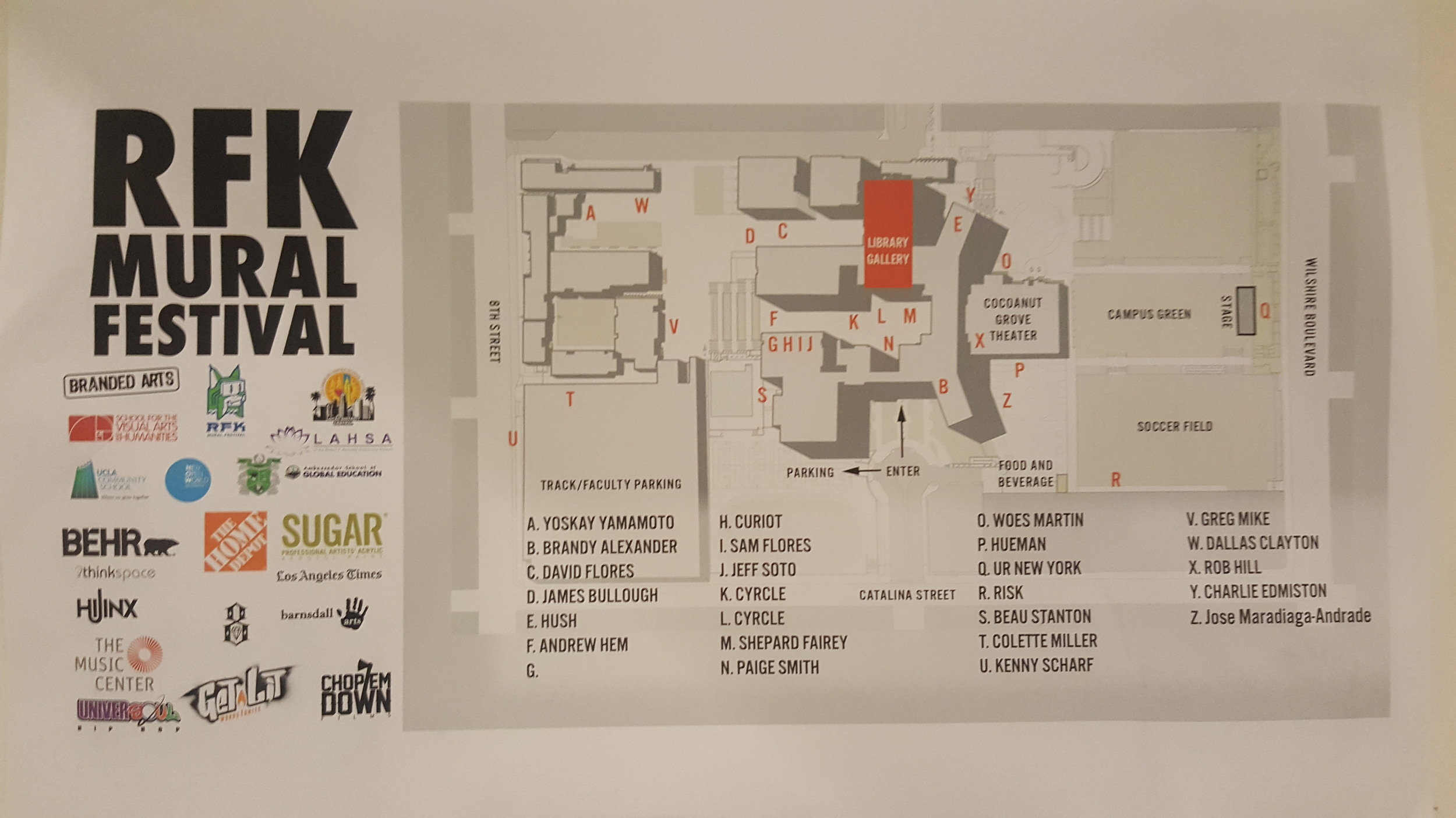 map of the festival