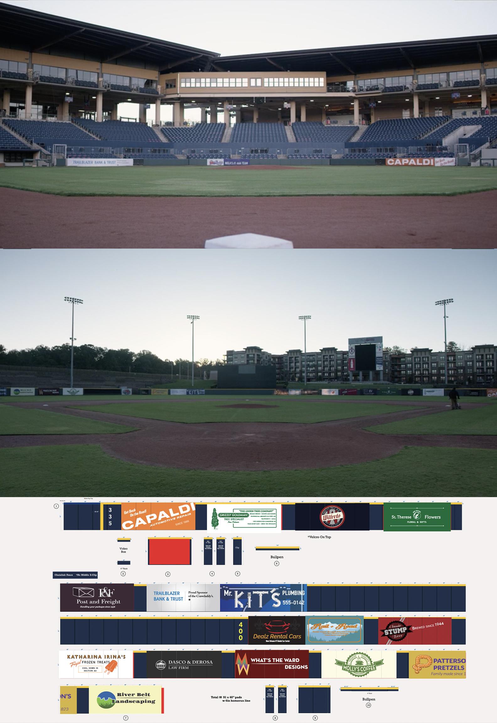 Complete Stadium Rebranding for Brockmire