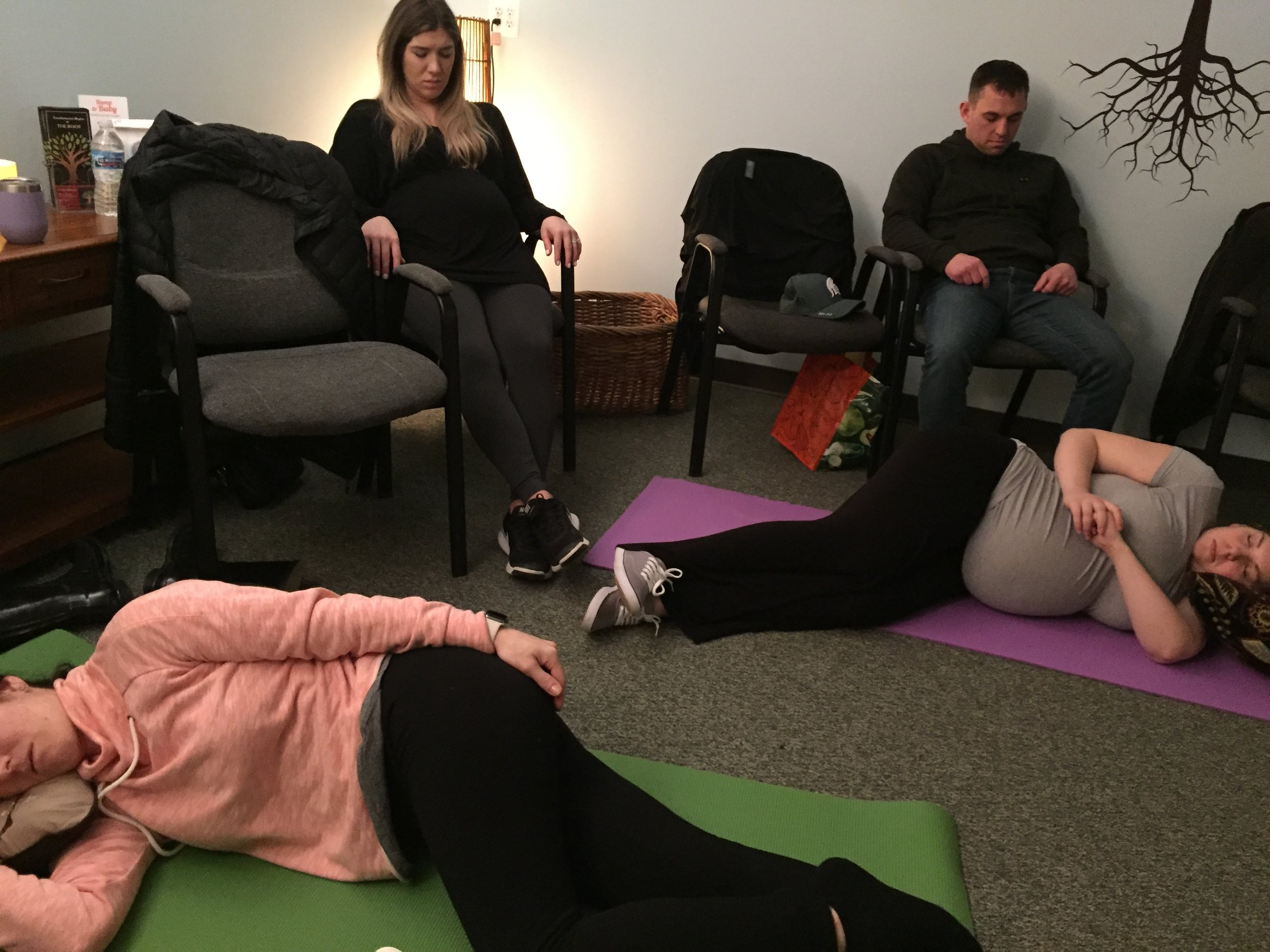 Parents in deep relaxation practice!