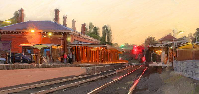 Castlemaine Railway Station