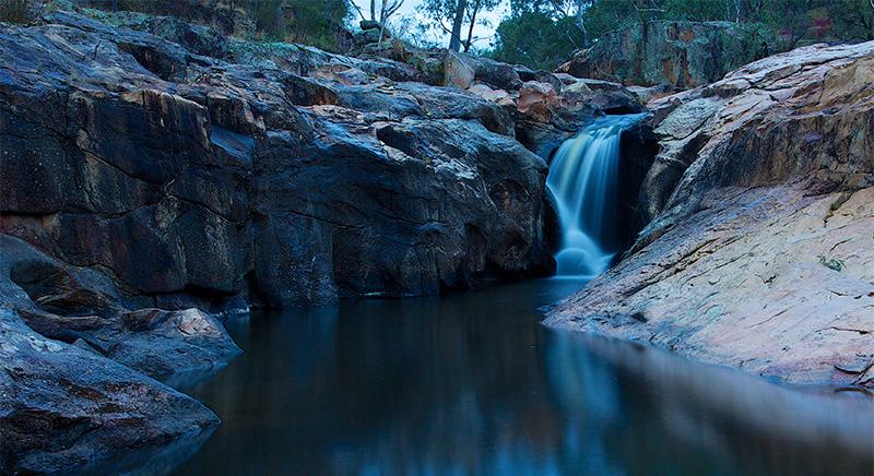Gooram Falls at dusk
