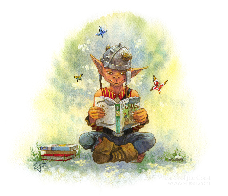 Goblin Kid Reads