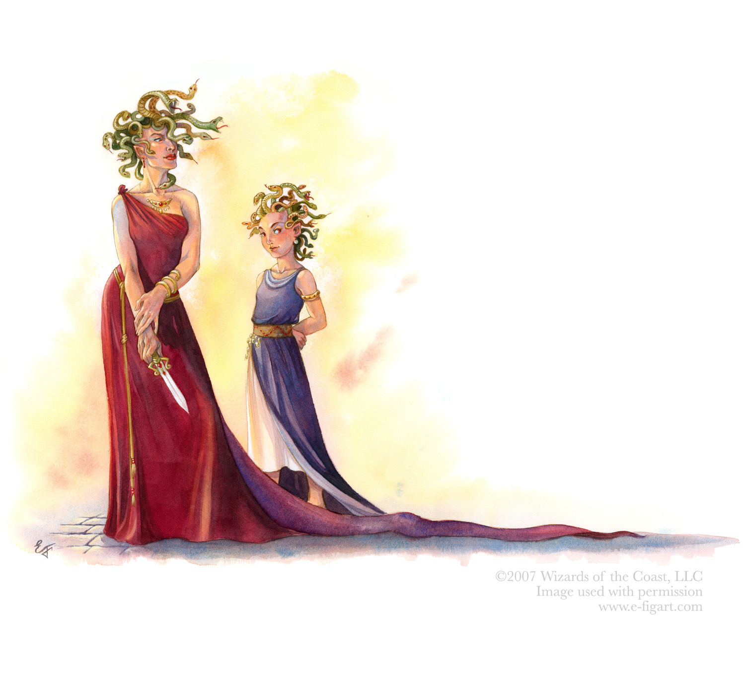 Medusa and Daughter