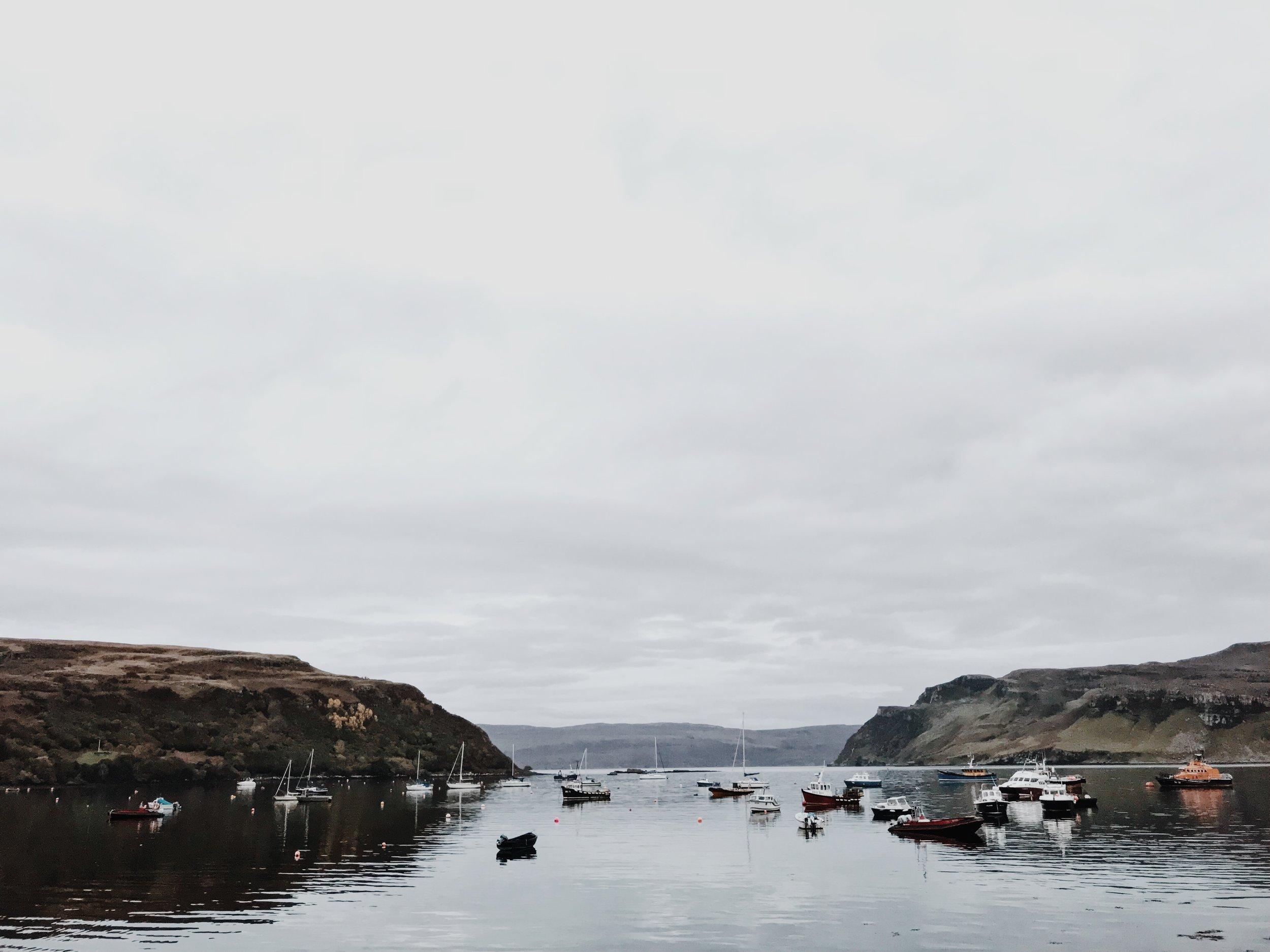 Portree harbour, iPhone