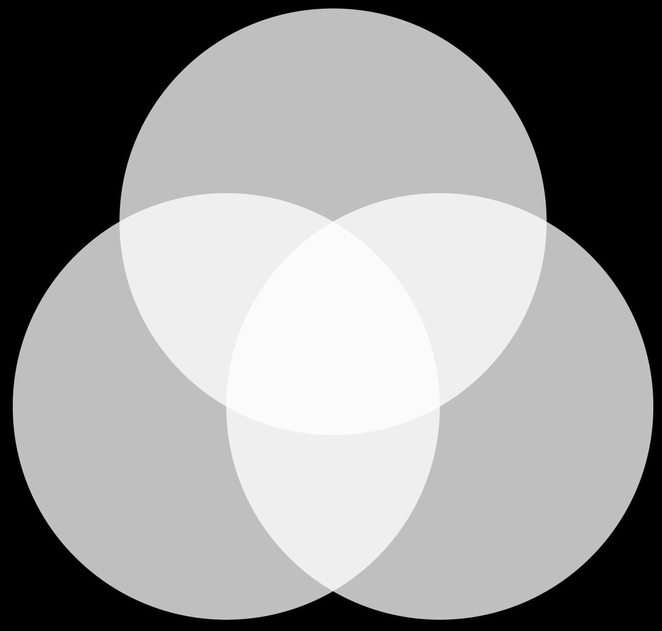 Synthèse additive :  du noir vers le blanc
