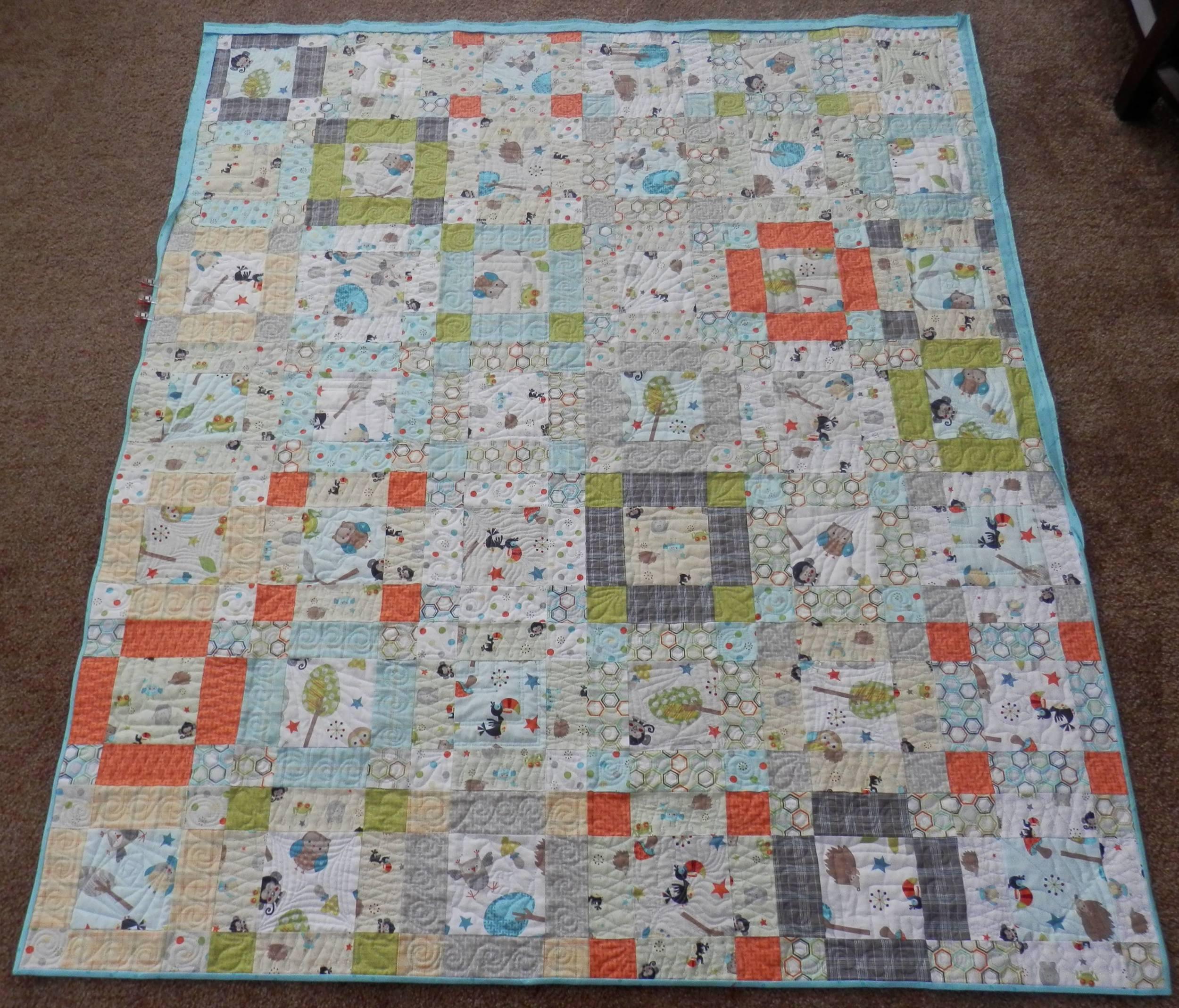 blocky baby quilt
