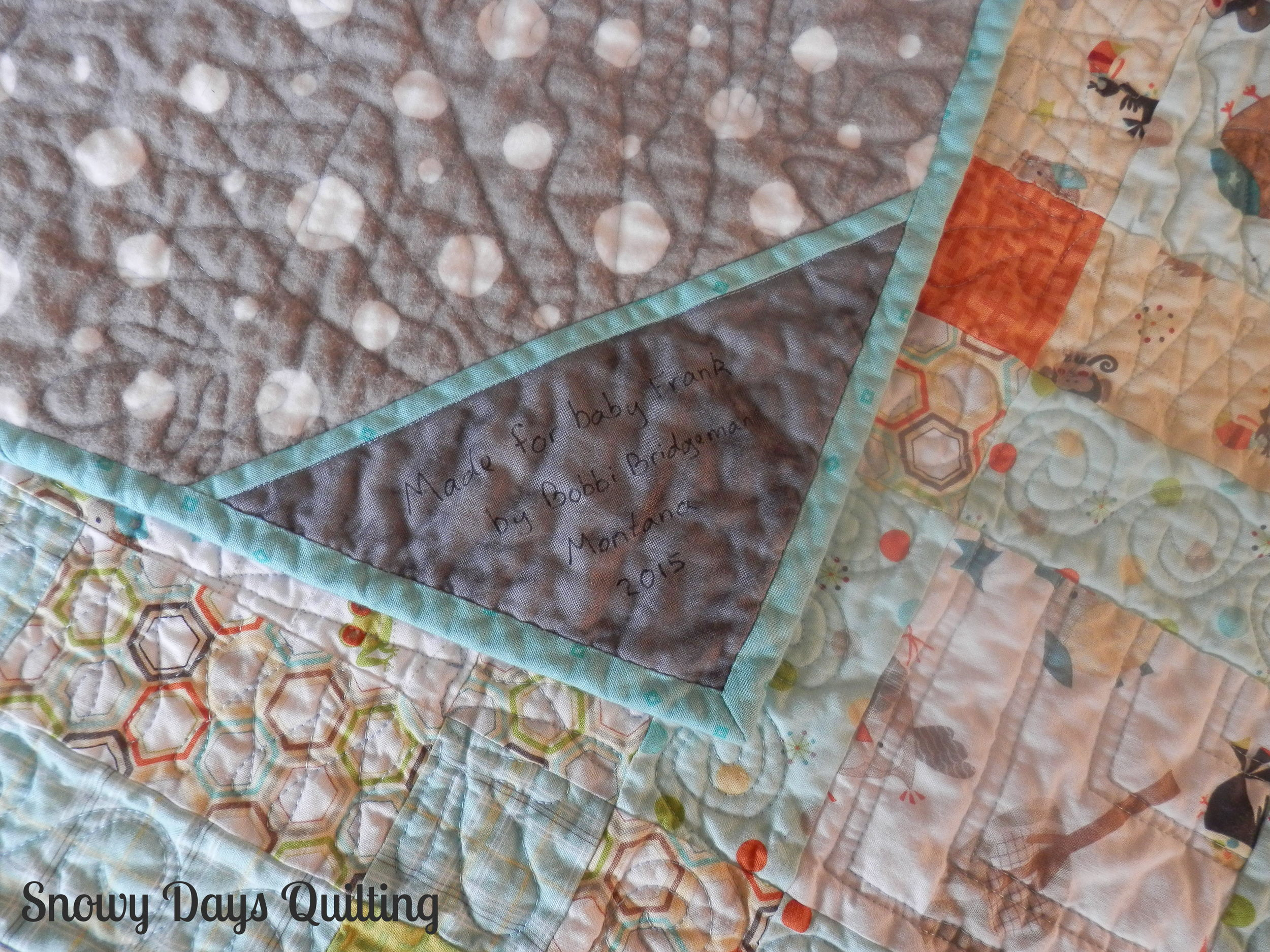 riley blake life in the jungle bordered squares quilt