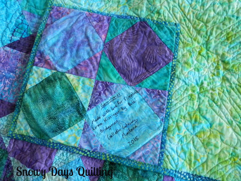 gemstones batik baby quilt