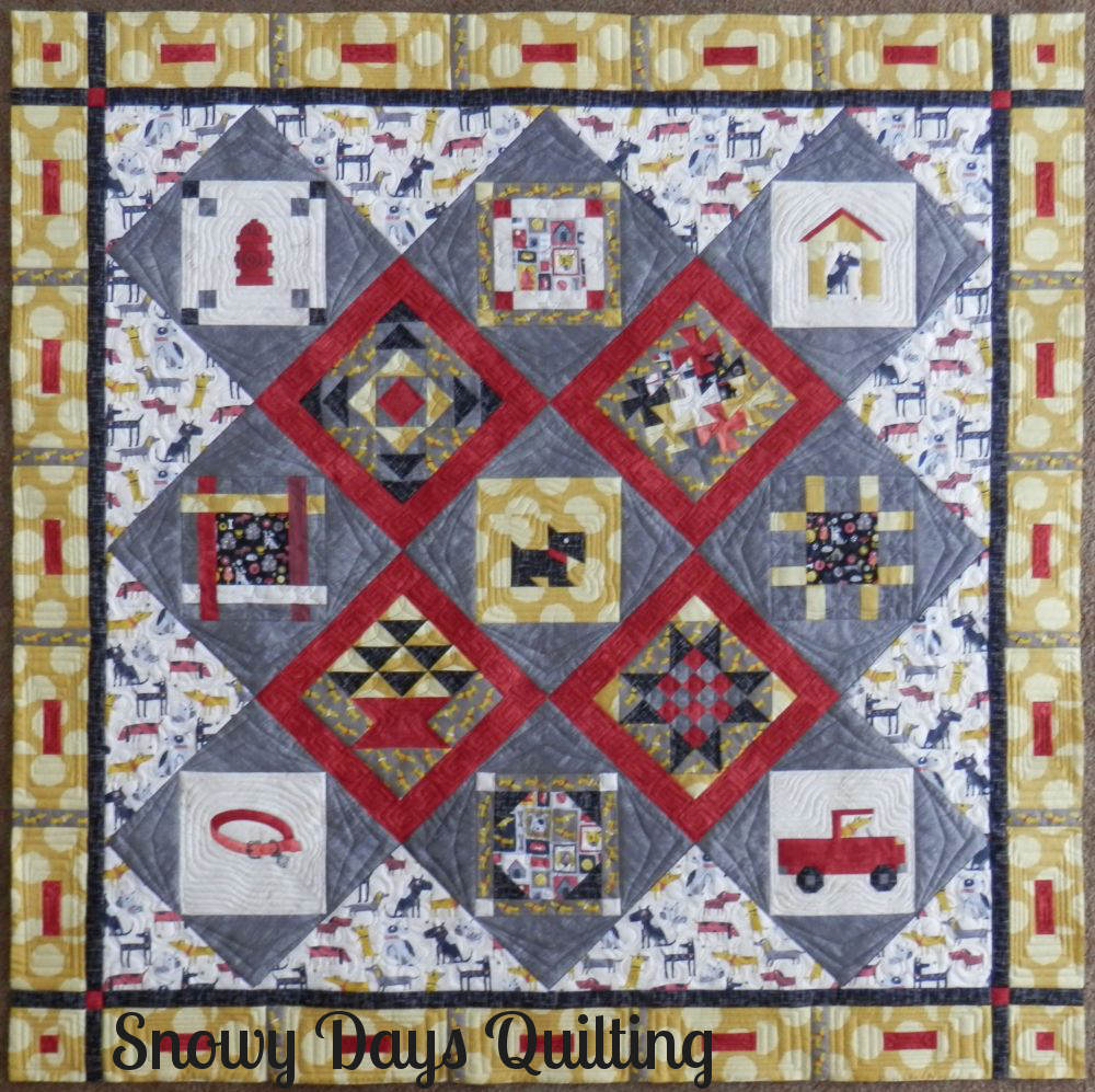 custom quilted doggie baby quilt