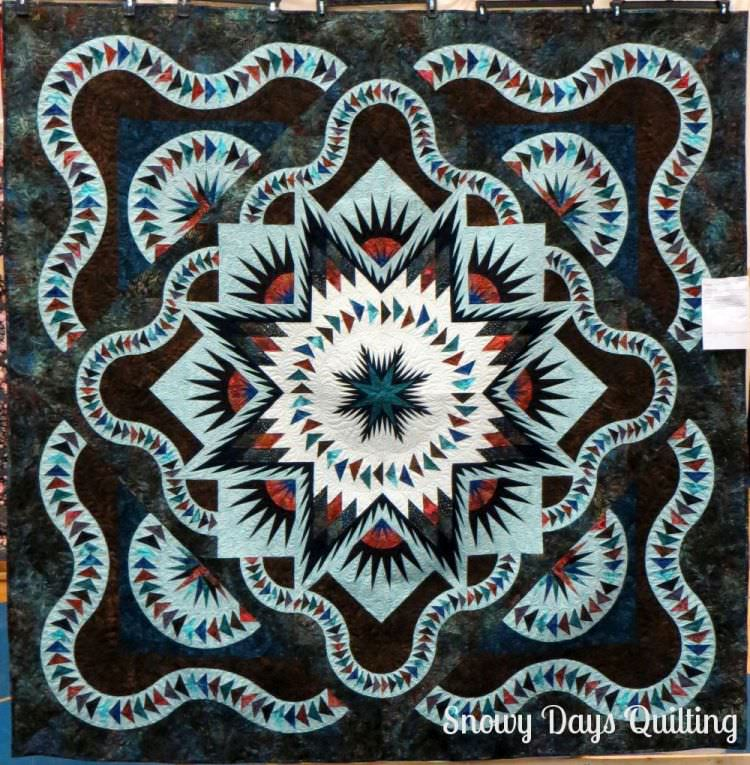 Glacier Star quilt by Judy Niemeyer for Quiltworx