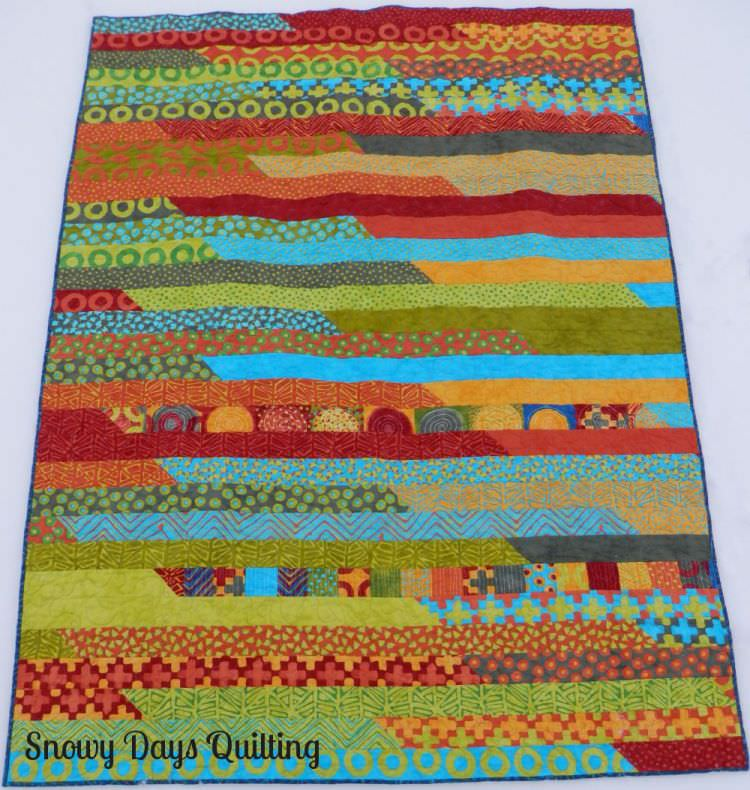 jelly roll race quilt Simple Marks Summer by Malka Dubrawsky
