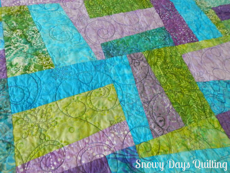 snow crystals quilting pantograph