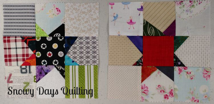 wonky star quilt blocks