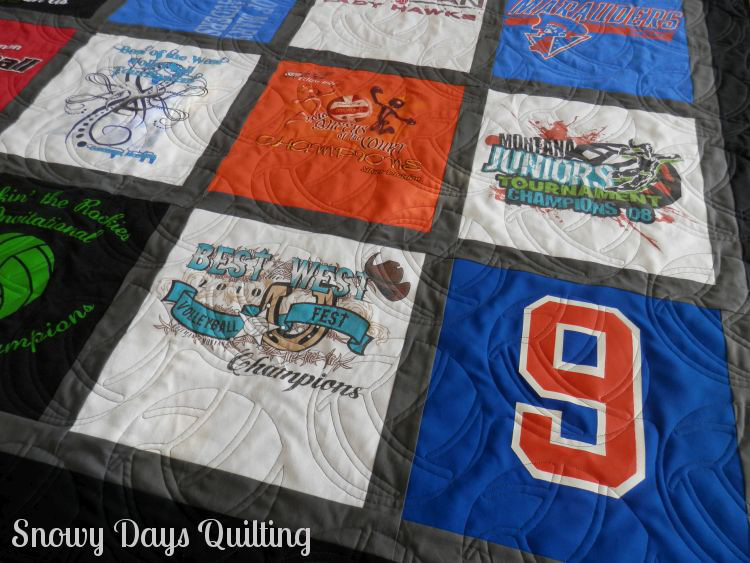 volleyball t-shirt quilt