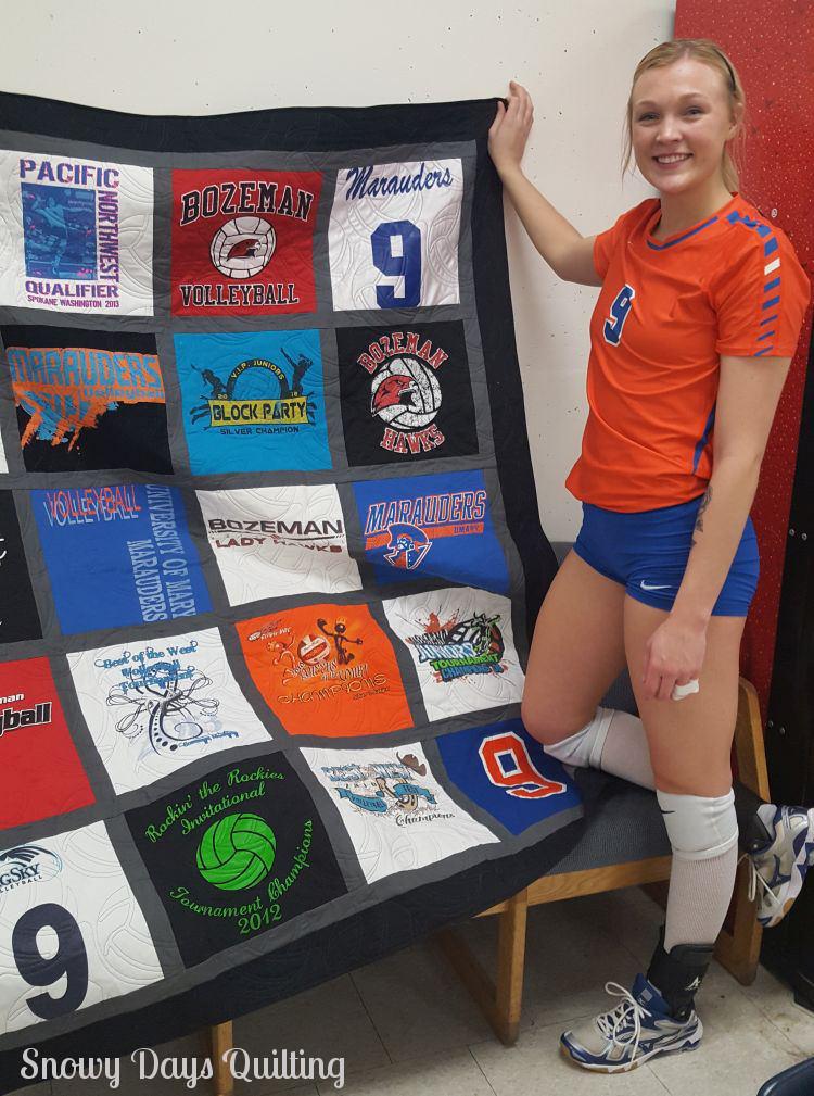 volleyball t-shirt quilt