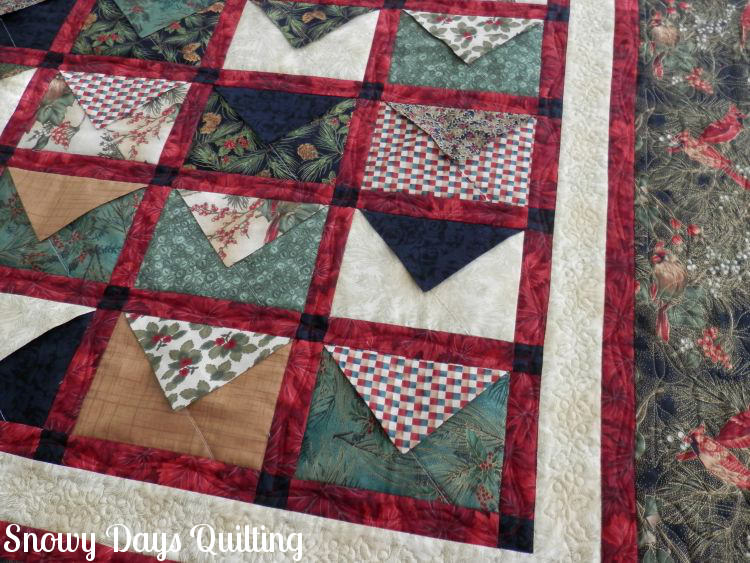 Christmas envelopes quilt sealed with a kiss