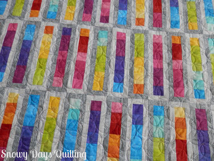 Roller Rink quilt Bubbles quilting