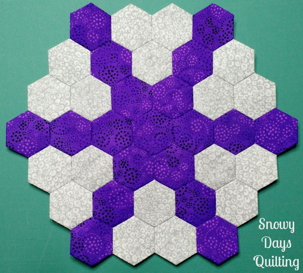 epp hexies with matching thread