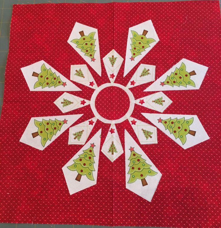 JANDA Bend Quilts fussy cut snowflake