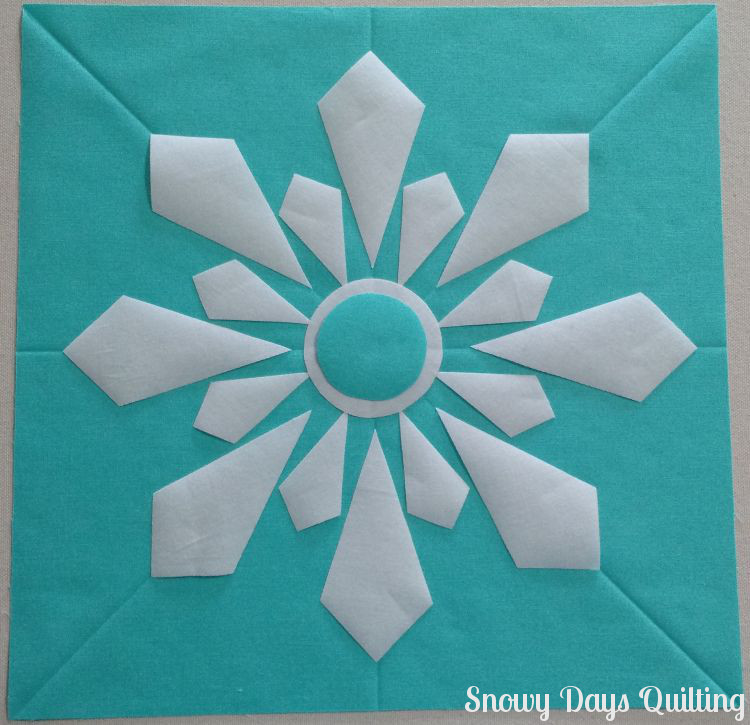 Snowflake Quilt Block fusible applique tips