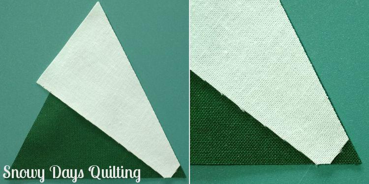 tree farm quilt block Tri-Recs tutorial