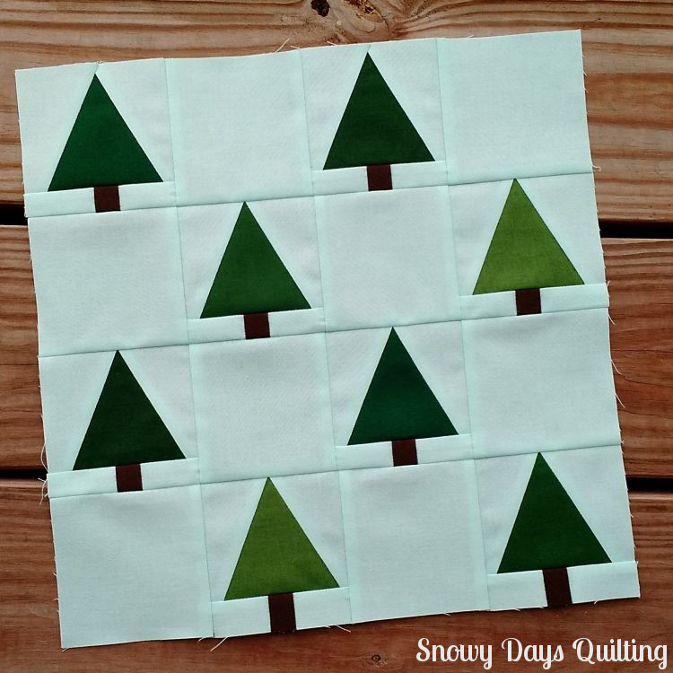 i wish you a merry quilt-a-long tree farm quilt block