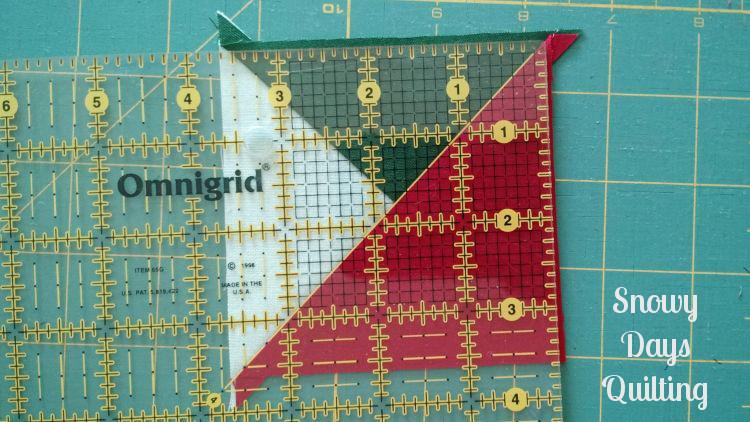 trimming split triangle units