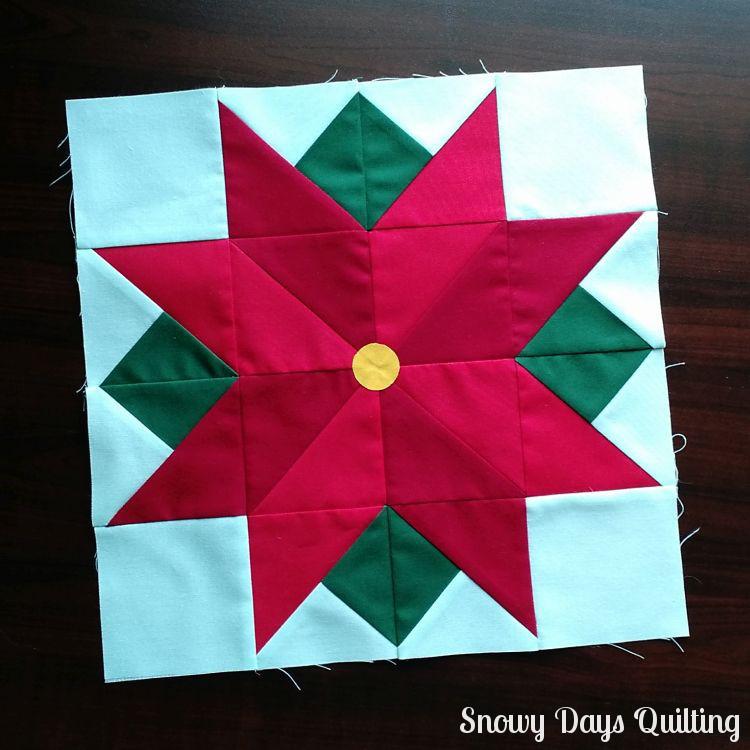 poinsettia quilt block