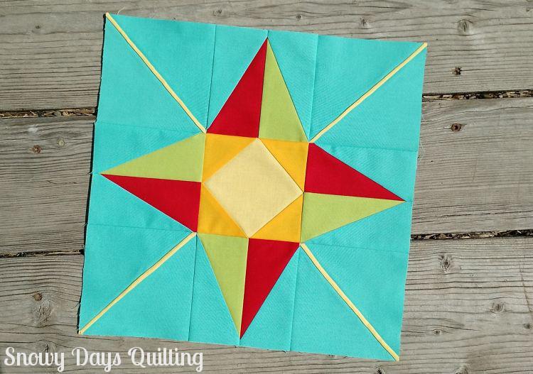 north star quilt block