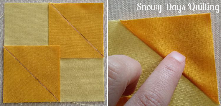 stitch and flip square in a square